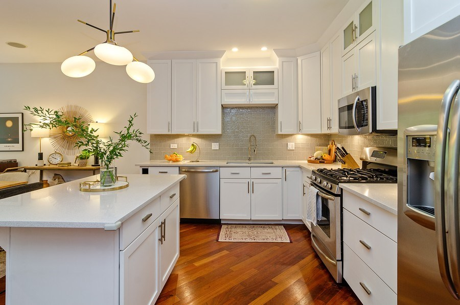 Real Estate Photography - 2241 W Wabansia Ave, Unit 101, Chicago, IL, 60647 - Kitchen