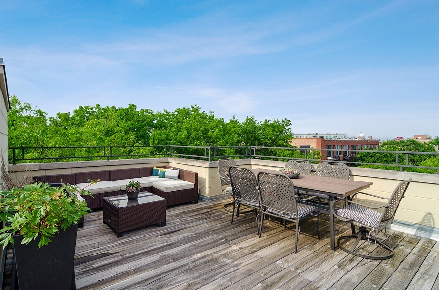 Real Estate Photography - 2241 W Wabansia Ave, Unit 101, Chicago, IL, 60647 - Roof Deck
