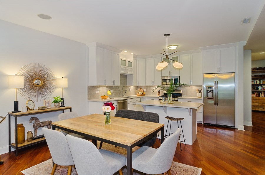 Real Estate Photography - 2241 W Wabansia Ave, Unit 101, Chicago, IL, 60647 - Dining Room
