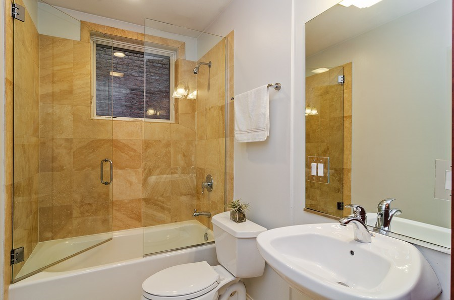 Real Estate Photography - 2241 W Wabansia Ave, Unit 101, Chicago, IL, 60647 - Bathroom