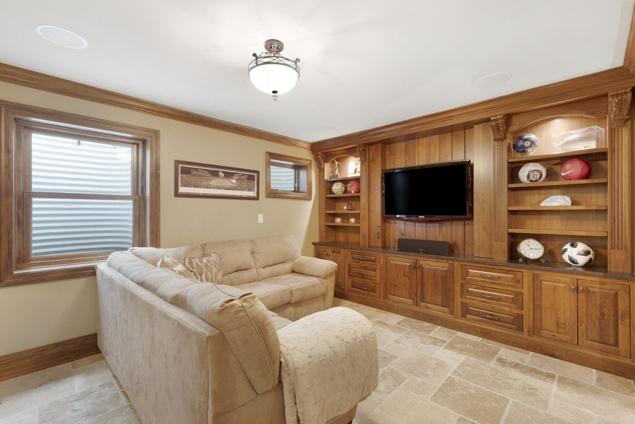 Real Estate Photography - 742 Meadow Lane, Libertyville, IL, 60048 - Media Room