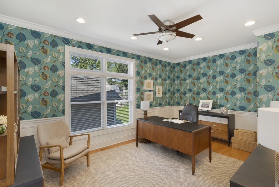 Real Estate Photography - 742 Meadow Lane, Libertyville, IL, 60048 - Office