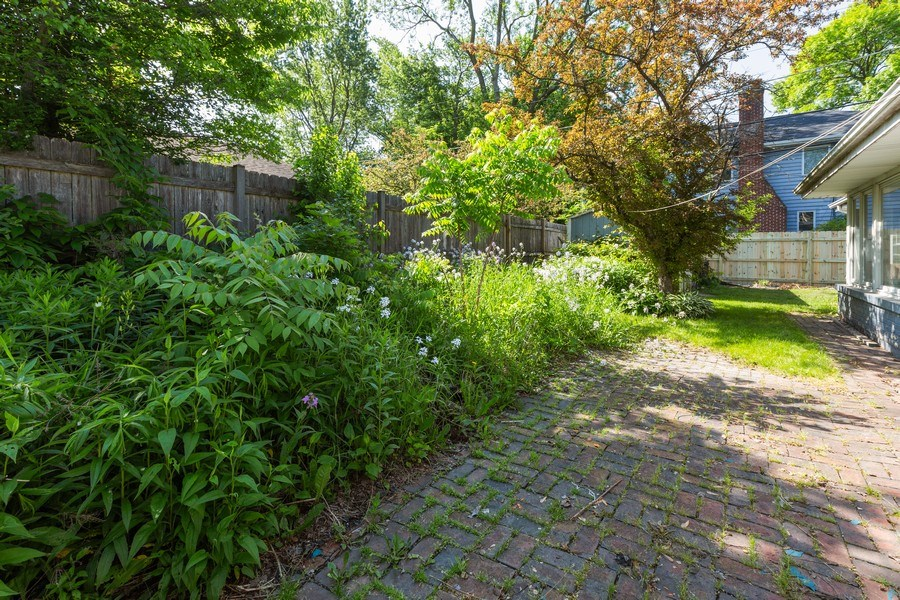 Real Estate Photography - 745 Indian Rd, Glenview, IL, 60025 - Fenced in Backyard