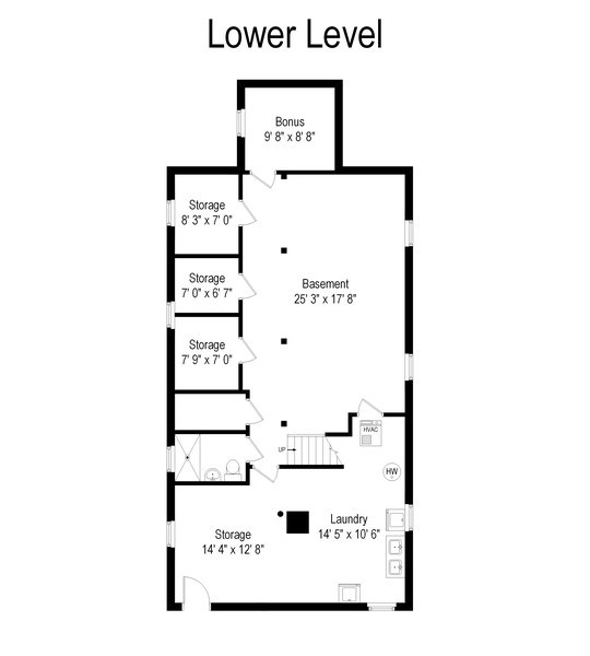 Real Estate Photography - 4834 N Leavitt St, Chicago, IL, 60625 - Floor Plan