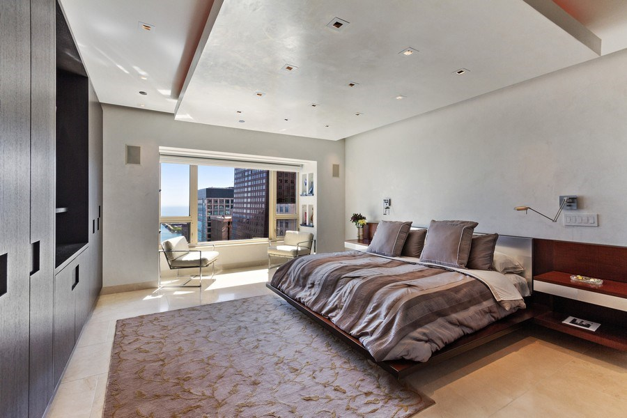 Real Estate Photography - 800 N Michigan Ave, 3301, Chicago, IL, 60611 - Master Bedroom