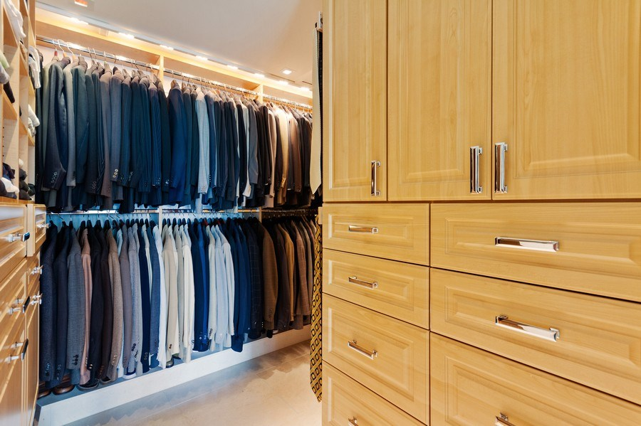 Real Estate Photography - 800 N Michigan Ave, 3301, Chicago, IL, 60611 - Master Bedroom Closet