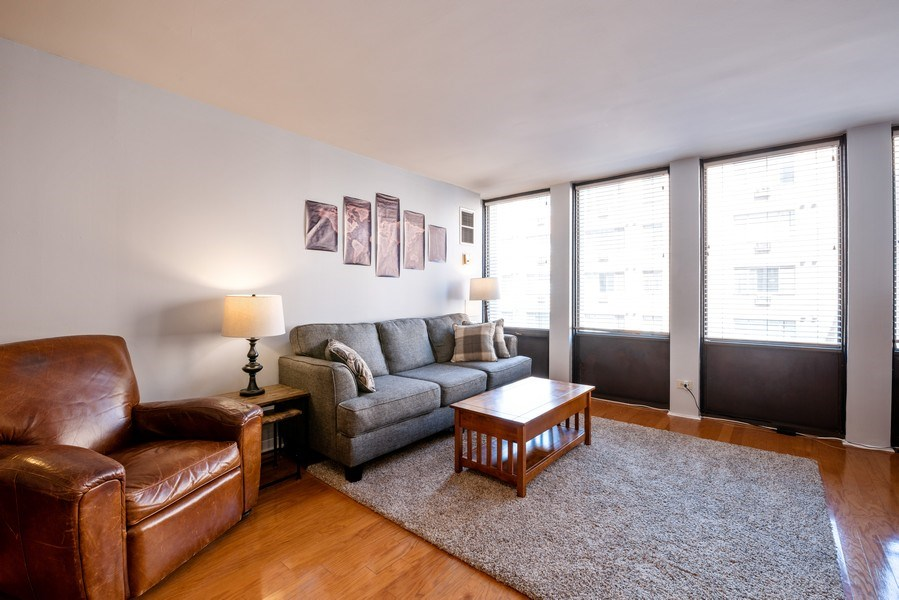 Real Estate Photography - 444 W. Fullerton, #401, Chicago, IL, 60614 - Living Room