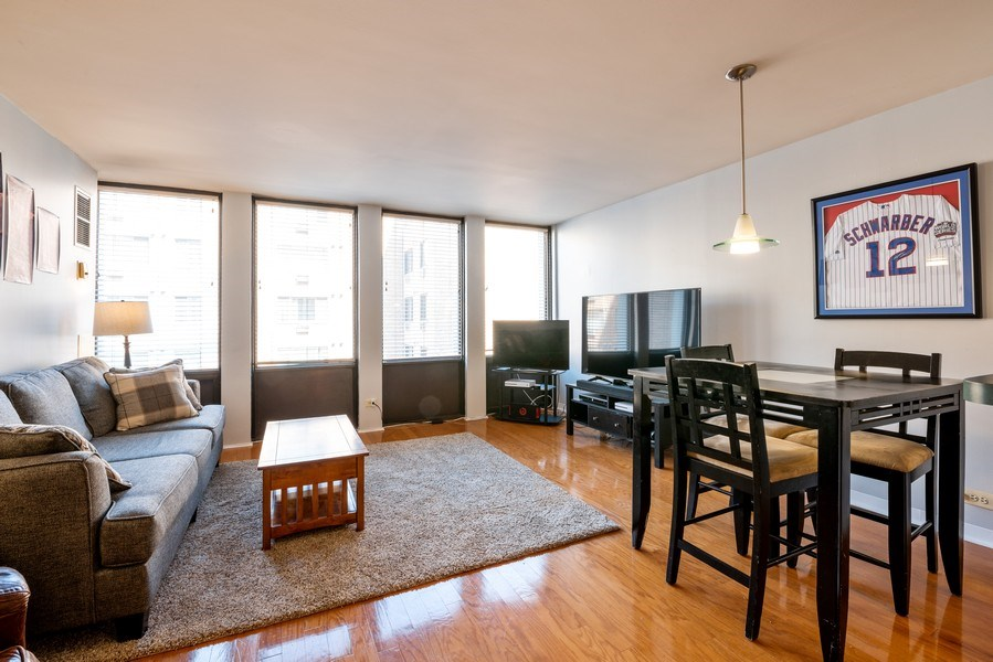 Real Estate Photography - 444 W. Fullerton, #401, Chicago, IL, 60614 - Living Room / Dining Room