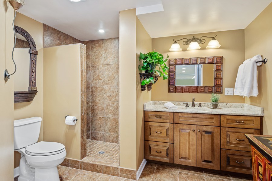 Real Estate Photography - 124 Vance Ct, Lake Barrington, IL, 60010 - Basement Bathroom