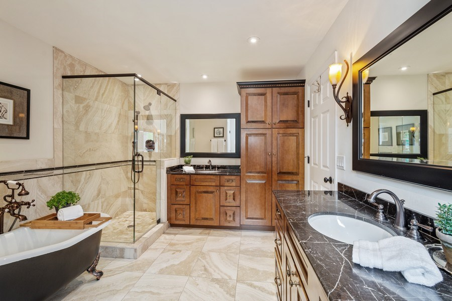 Real Estate Photography - 124 Vance Ct, Lake Barrington, IL, 60010 - Master Bathroom