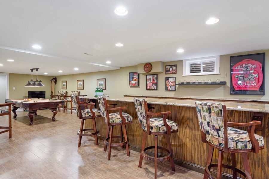 Real Estate Photography - 124 Vance Ct, Lake Barrington, IL, 60010 - Bar & Game Room