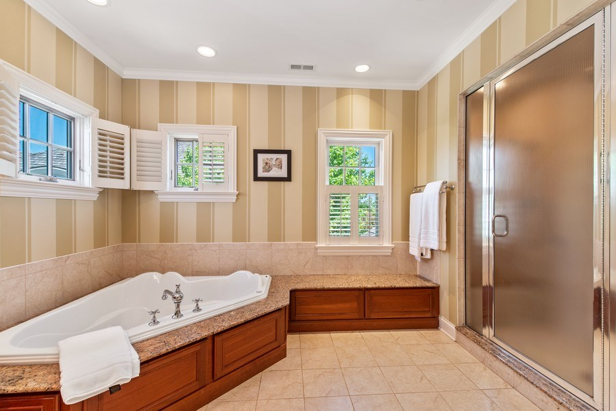 Real Estate Photography - 1655 Monterey Dr, Glenview, IL, 60026 - Master Bathroom