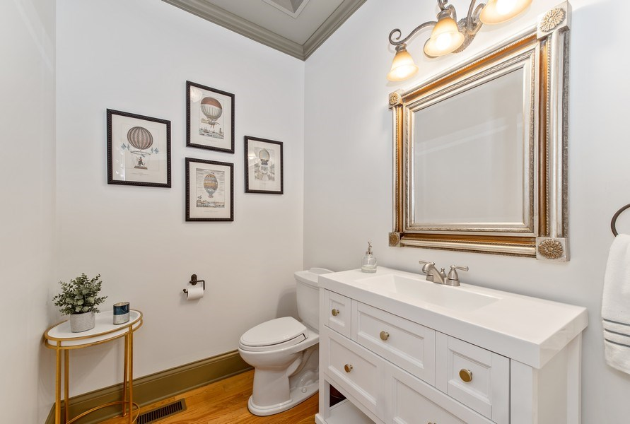 Real Estate Photography - 1655 Monterey Dr, Glenview, IL, 60026 - Powder Room