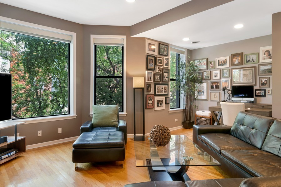 Real Estate Photography - 3519 N Sheffield, Unit 2S, Chicago, IL, 60657 - Living Room