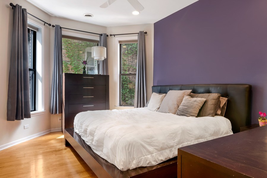 Real Estate Photography - 3519 N Sheffield, Unit 2S, Chicago, IL, 60657 - Master Bedroom