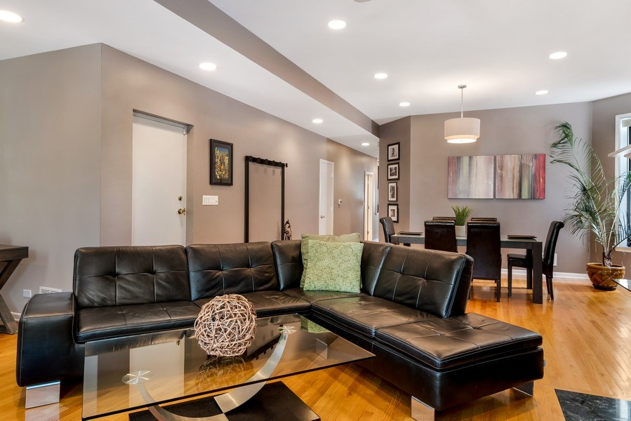Real Estate Photography - 3519 N Sheffield, Unit 2S, Chicago, IL, 60657 - Living Room / Dining Room
