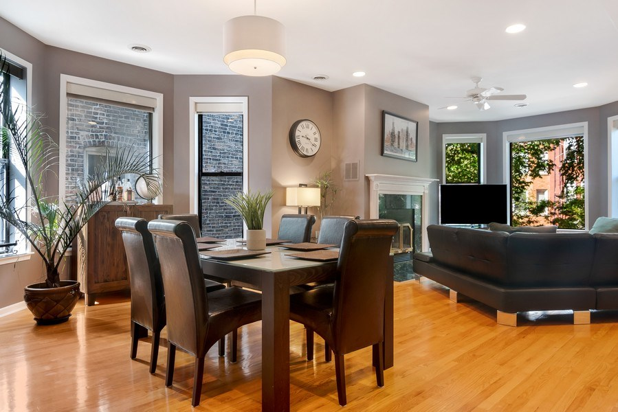 Real Estate Photography - 3519 N Sheffield, Unit 2S, Chicago, IL, 60657 - Living Room/Dining Room