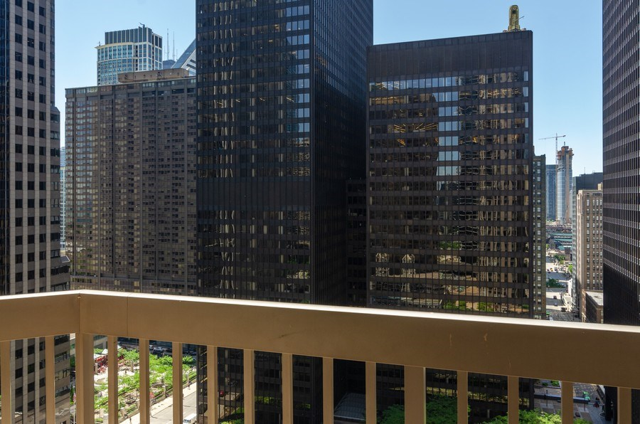 Real Estate Photography - 222 N Columbus Dr, 1902, Chicago, IL, 60601 - Balcony