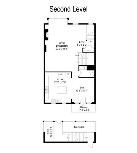 Real Estate Photography - 464 W Superior, Chicago, IL, 60654 - Floor Plan