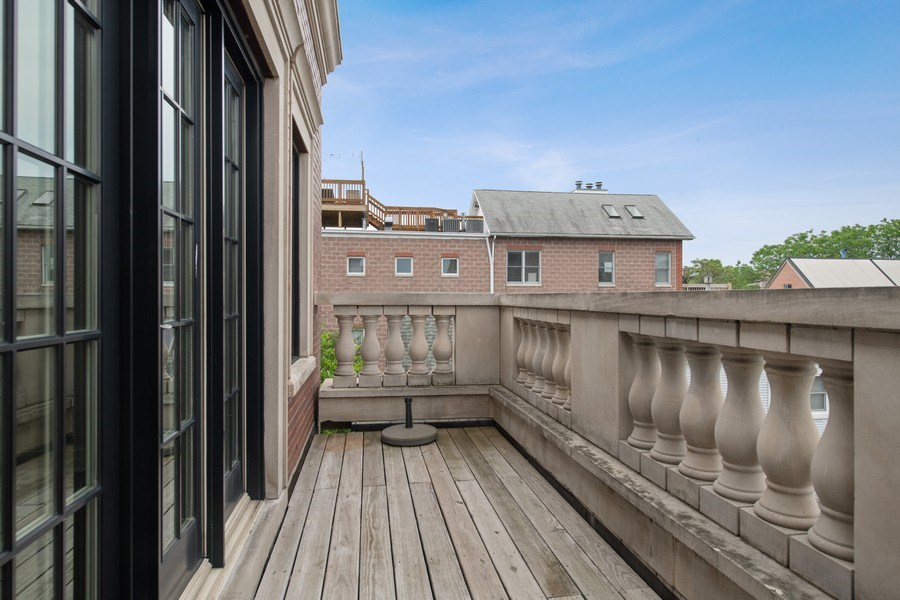 Real Estate Photography - 3926 N Greenview Ave, Chicago, IL, 60613 - 3rd Bedroom En Suite Terrace
