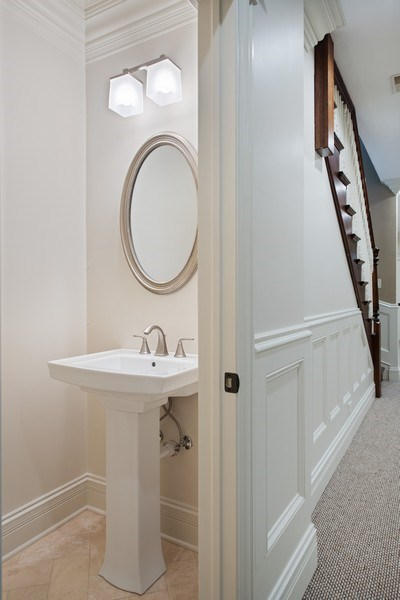 Real Estate Photography - 3926 N Greenview Ave, Chicago, IL, 60613 - Powder Room