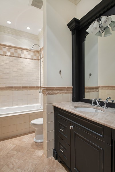 Real Estate Photography - 3926 N Greenview Ave, Chicago, IL, 60613 - 2nd Bathroom