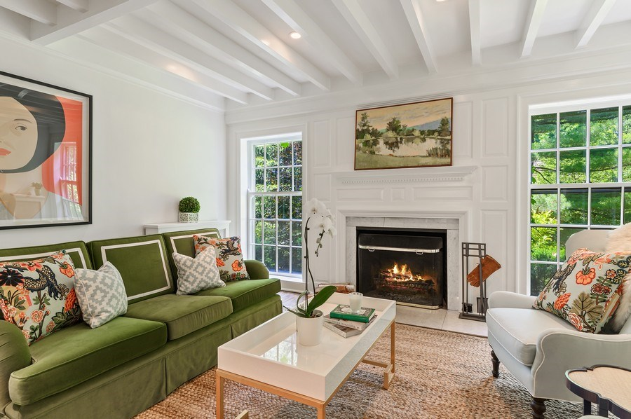 Real Estate Photography - 44 Indian Hill Rd, Winnetka, IL, 60093 - Living Room