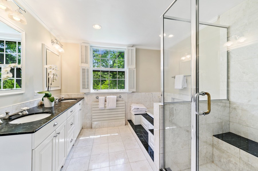 Real Estate Photography - 44 Indian Hill Rd, Winnetka, IL, 60093 - Master Bathroom