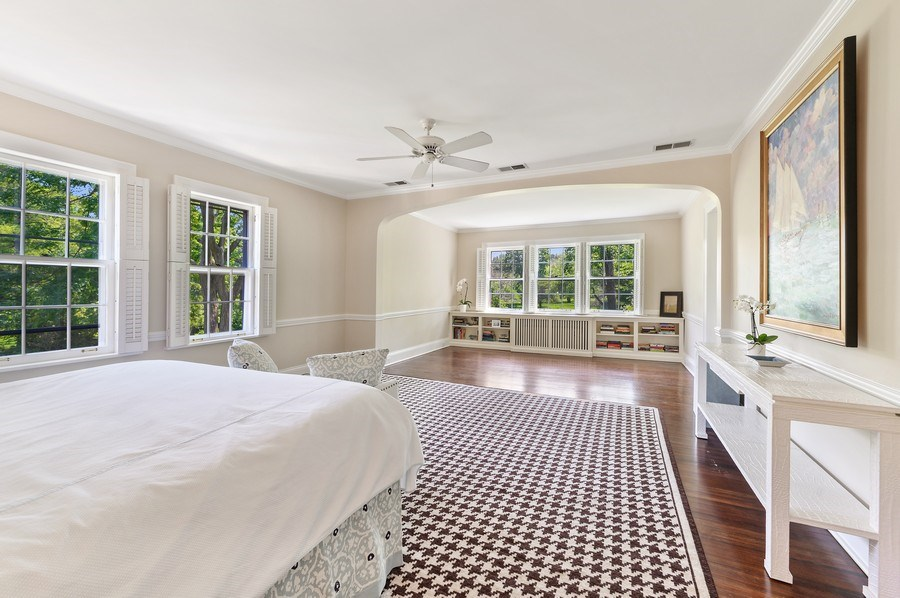 Real Estate Photography - 44 Indian Hill Rd, Winnetka, IL, 60093 - Master Bedroom