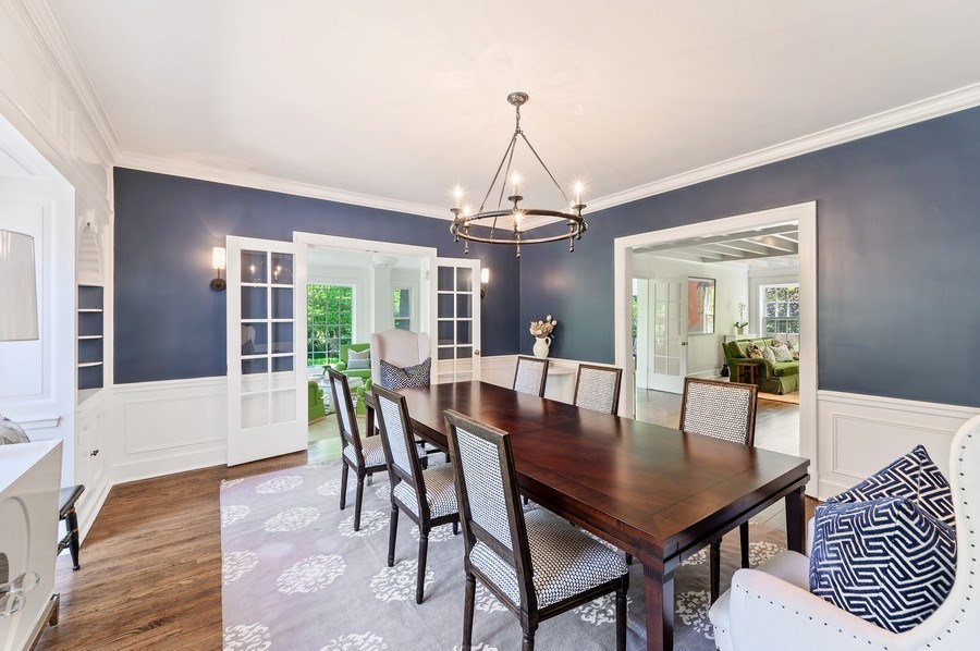 Real Estate Photography - 44 Indian Hill Rd, Winnetka, IL, 60093 - Dining Room to Great Room & Living Room
