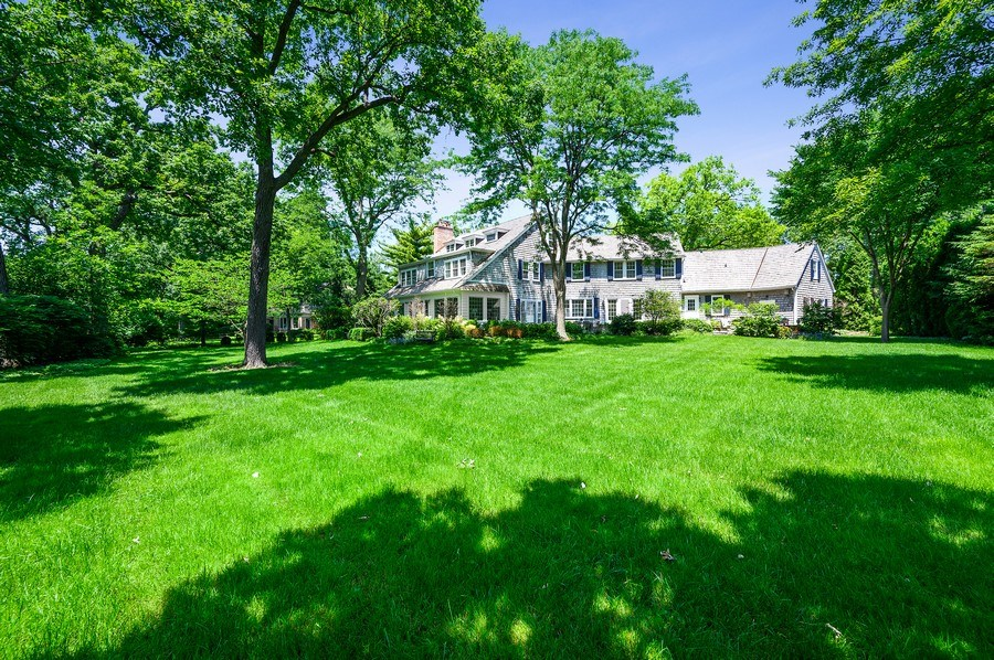 Real Estate Photography - 44 Indian Hill Rd, Winnetka, IL, 60093 - Rear View