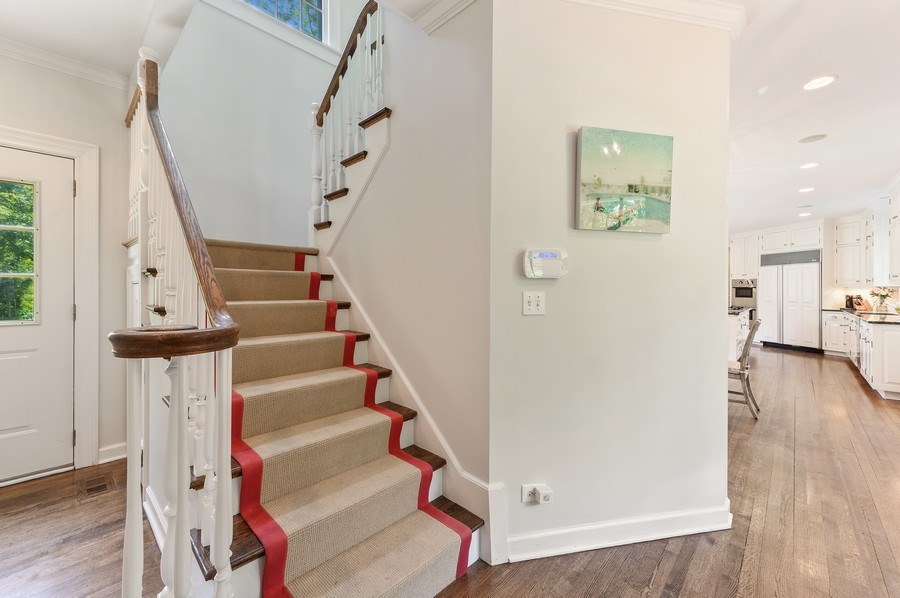 Real Estate Photography - 44 Indian Hill Rd, Winnetka, IL, 60093 - 2nd Staircase