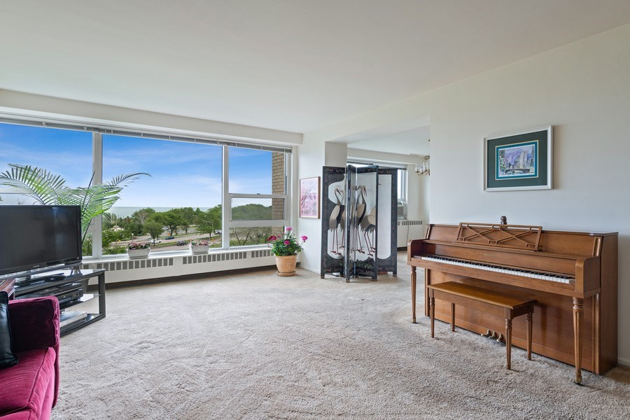 Real Estate Photography - 3180 N Lake Shore Dr, 5D, Chicago, IL, 60657 - Living Room