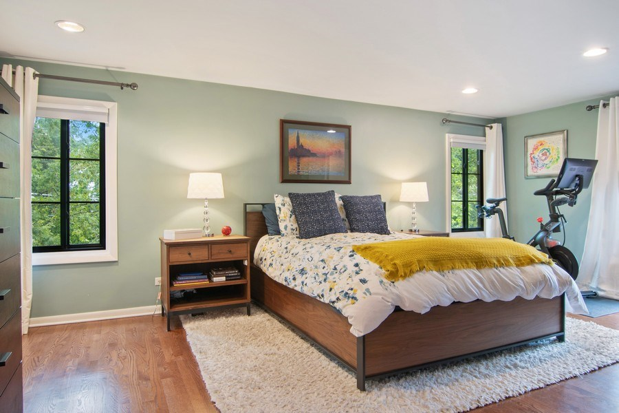 Real Estate Photography - 2326 Greenwood, Wilmette, IL, 60091 - Master Bedroom