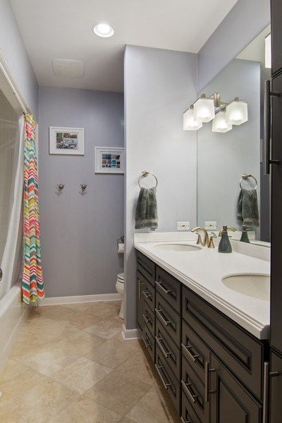Real Estate Photography - 2326 Greenwood, Wilmette, IL, 60091 - Hall Bathroom