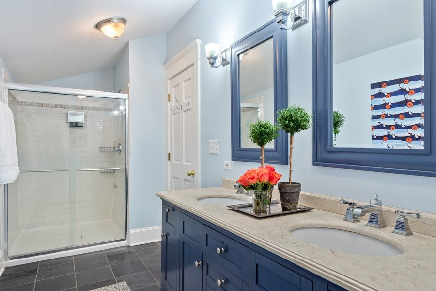 Real Estate Photography - 249 W Lake St, Barrington, IL, 60010 - Master Bathroom