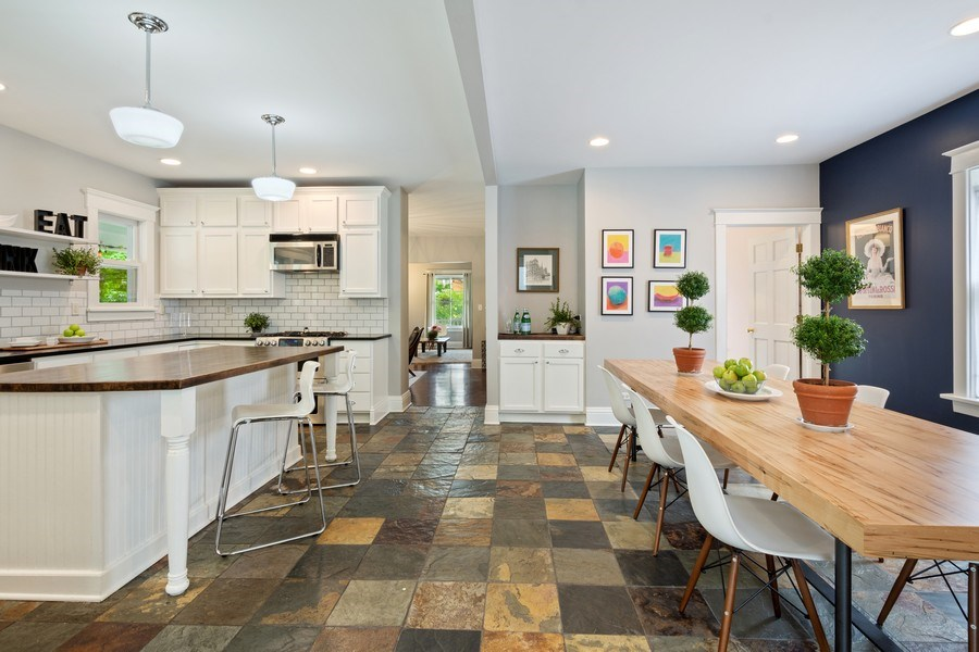 Real Estate Photography - 249 W Lake St, Barrington, IL, 60010 - Kitchen & Dining Room