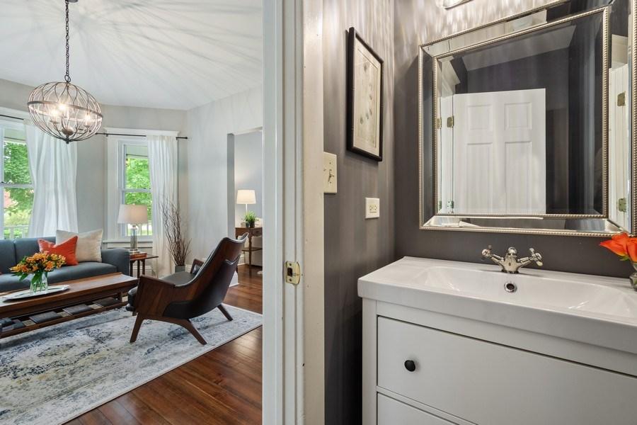 Real Estate Photography - 249 W Lake St, Barrington, IL, 60010 - Powder Room