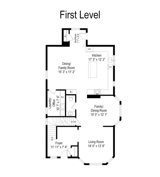 Real Estate Photography - 249 W Lake St, Barrington, IL, 60010 - Floor Plan