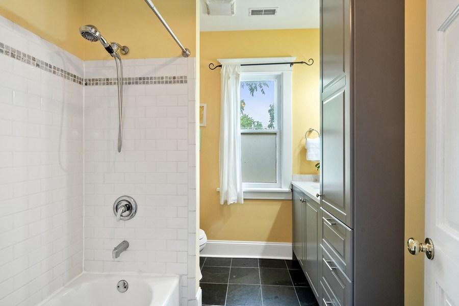 Real Estate Photography - 249 W Lake St, Barrington, IL, 60010 - Hallway Bathroom