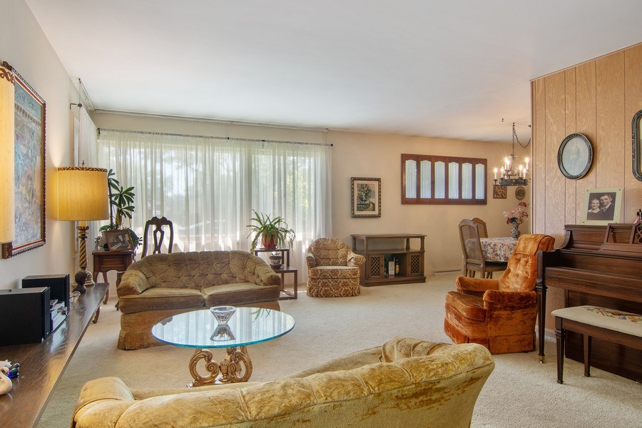 Real Estate Photography - 8944 Oak Park Ave, Morton Grove, IL, 60053 - Living Room / Dining Room