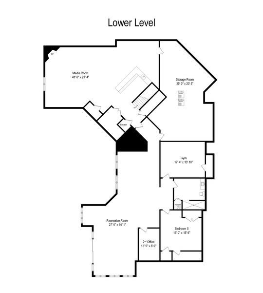 Real Estate Photography - 28317 Gray Barn Ln, Lake Barrington, IL, 60010 - Floor Plan