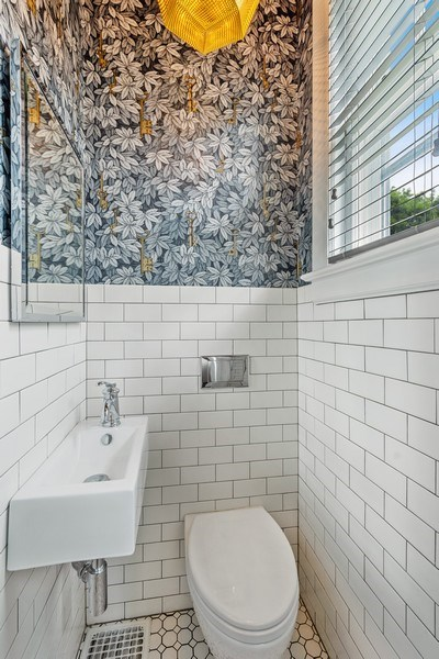 Real Estate Photography - 239 Coolidge Ave, Barrington, IL, 60010 - Powder Room