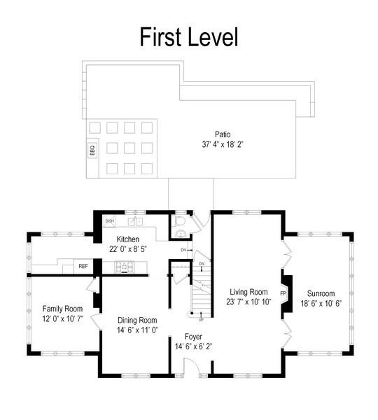 Real Estate Photography - 239 Coolidge Ave, Barrington, IL, 60010 - Floor Plan