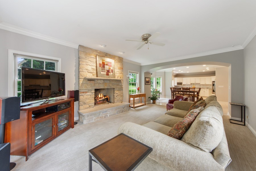 Real Estate Photography - 26026 N Middleton Pkwy, Mundelein, IL, 60060 - Family Room