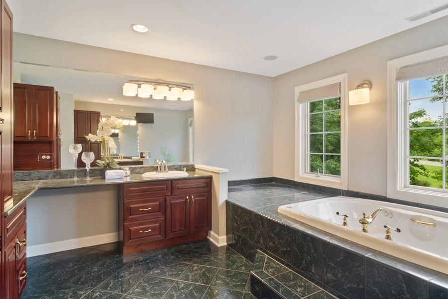 Real Estate Photography - 6231 Pine Tree Ct., Long Grove, IL, 60047 - Master Bathroom