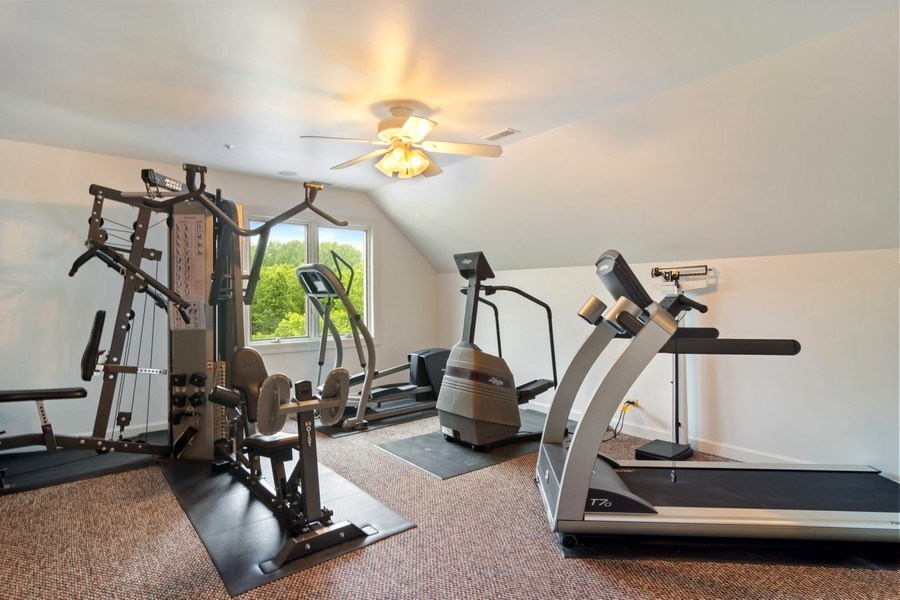Real Estate Photography - 6231 Pine Tree Ct., Long Grove, IL, 60047 - Exercise Room
