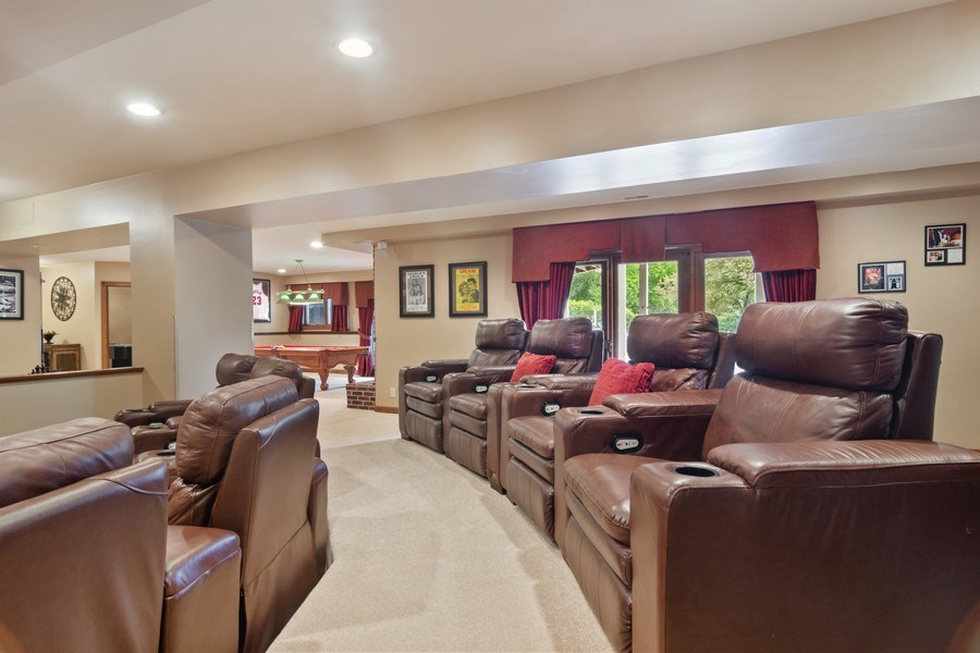 Real Estate Photography - 6231 Pine Tree Ct., Long Grove, IL, 60047 - Media Room