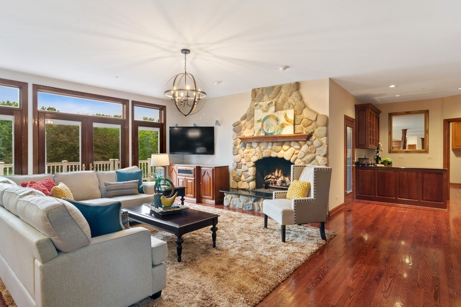 Real Estate Photography - 6231 Pine Tree Ct., Long Grove, IL, 60047 - Family Room