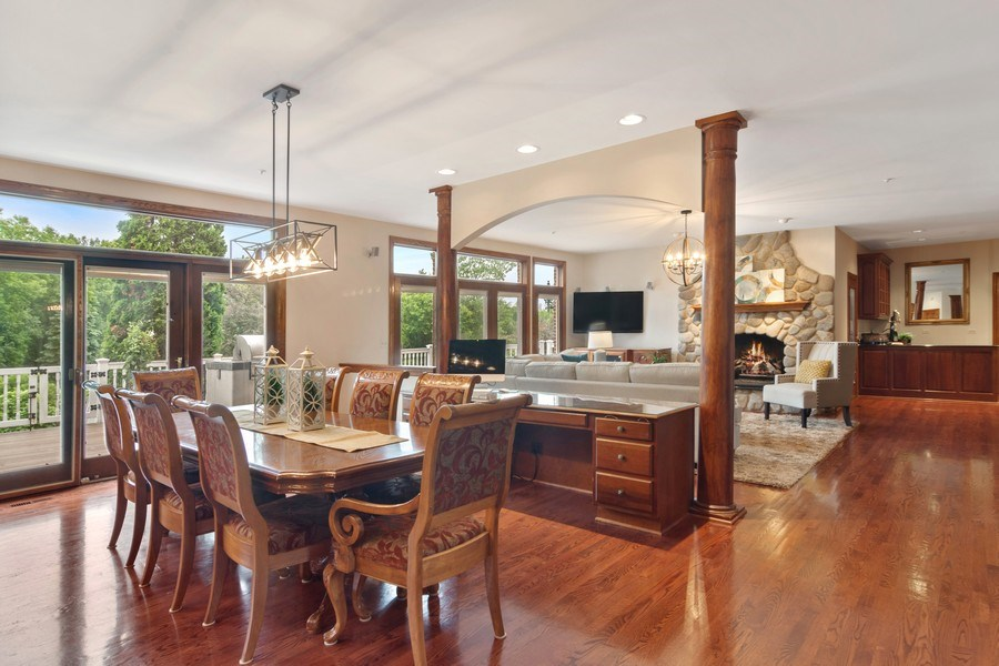 Real Estate Photography - 6231 Pine Tree Ct., Long Grove, IL, 60047 - Family Room / Kitchen